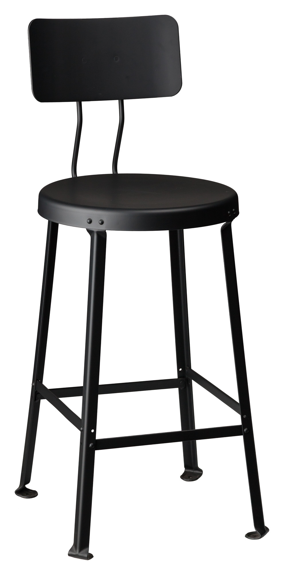 Commercial Grade Bar Stool One Ton Stool With Back Crow Works